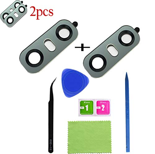 Eaglestar 2pcs True Glass Rear Camera Cover Lens Replacement for LG G6 H870 H871 H872 H873 LS993 VS998 US997 H870DS+1 Set Repair Tool