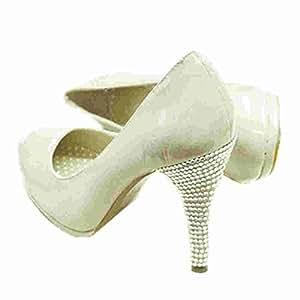 Claro Rhinestone Juego talón zapato decoraciones de cristal–perfecto para boda o noche zapatos