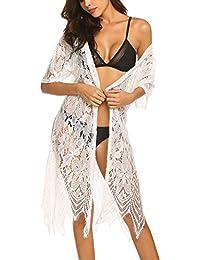 107bd9a519 Womens Bathing Suit Cover Up Crochet Lace Bikini Swimsuit Dress Swim Summer  Beach Dress