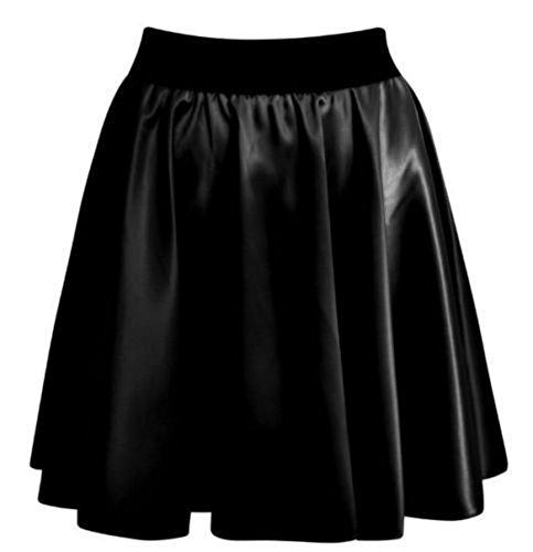 Femme Wetlook Noir bliss Jupe Black v5xTq