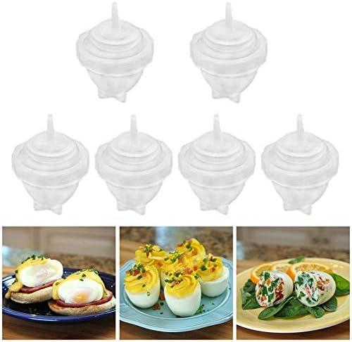 frYukiko Egg Cooker Egg Separator Egg Boiler Cup Egg Cooking Tools Hard Boiled Molds