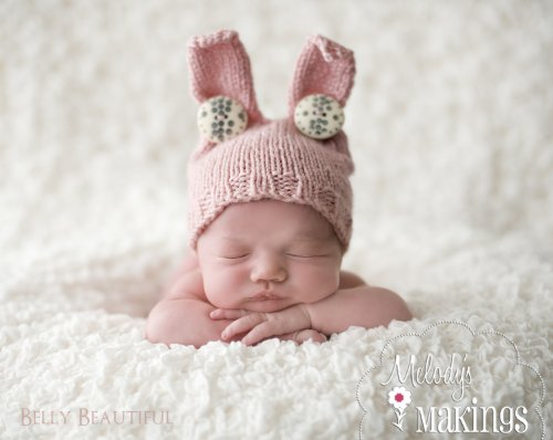 Baby Bunny Hat Knitting Pattern - 6 Sizes Included