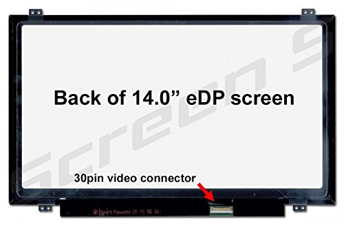 401 Notebook - BOE HB140WX1-401 Replacement Screen for Laptop LED HD Glossy