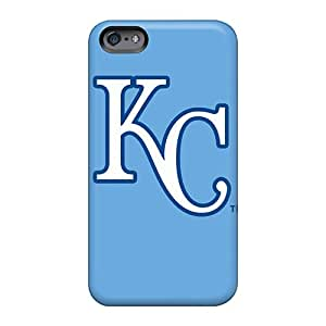 Perfect Hard Phone Covers For Apple Iphone 6 (QEq1015befT) Unique Design Attractive Kansas City Royals Pictures
