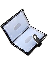 Karlling Soft Leather Case Wallet Bag Holder For 20 Credit Cards (Black)