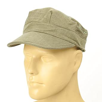 1940s Style Mens Hats U.S. WWII M1941 HBT Field Cap- Size 7 3/4 US 62 cm $21.95 AT vintagedancer.com