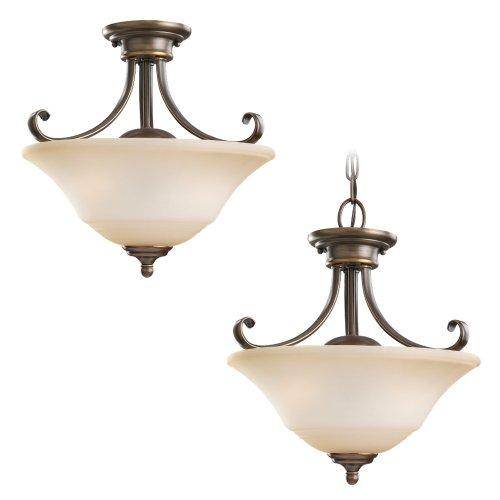 - Sea Gull Lighting 77380-829 Semi-Flush Convertible Fixture Russet Bronze