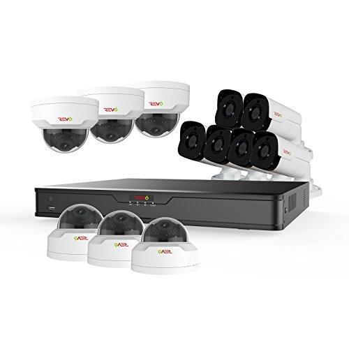 Revo America Ultra 16CH 4K H.265 NVR, 4 TB Surveillance Grade HDD, Remote Access