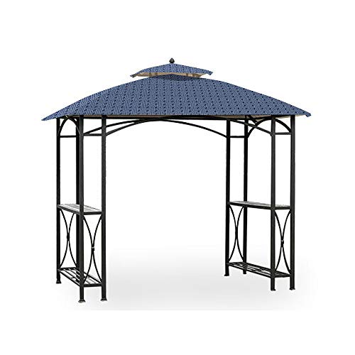 Garden Winds Replacement Canopy for The Sheridan Grill Gazebo - Standard 350 - Midnight Trellis (Trellis Gazebo Replacement Canopy)