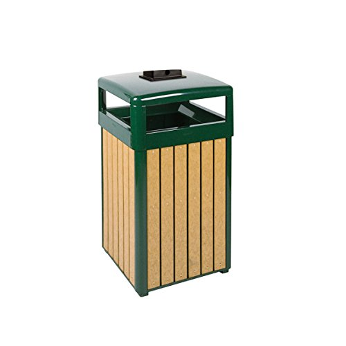 Rubbermaid Commercial Products Regent Series Ash/Trash Refuse Container with Weather Urn (Hinged Top, 29-Gallon) (FGR34HTWU50PLEGN)