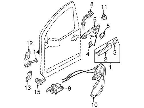 Amazon Com Nissan 80501 Zp71a Door Lock Actuator Motor Automotive