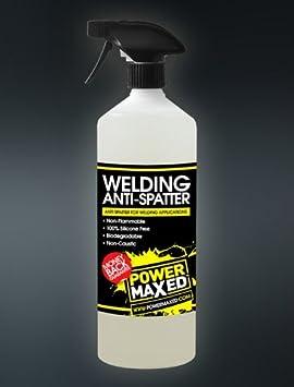 Power Maxed Anti Salpicaduras de Soldadura Spray 1 litro MIG TIG ARC ...