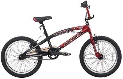 CINZIA - Bicicleta de 20 Pulgadas BMX Freestyle Rock Boy de Aluminio Rojo y Negro: Amazon.es: Deportes y aire libre