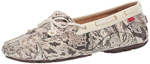 Marc Joseph New York Womens Genuine Leather Cypress Hill Loafer Driving Style, patchwork/cream patent 8 M US