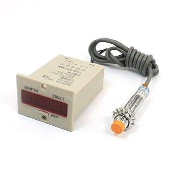 El interruptor del sensor de 4 mm de proximidad inductivos LJ12A3-4-Z / BY w 6 Contador Digit: Amazon.es: Industria, empresas y ciencia