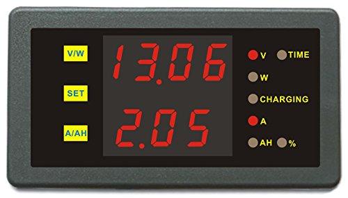 (DC 0-120V 0-100A Volt Amp Ah Power Capacity Percent Battery Monitor Watt Meter 50A 50A 200A 250A 300A 400A 500A 600A 750A 1000A Shunt (0-120.0V,0-50.0A))