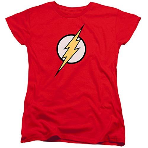Women's Flash Lightning Bolt Logo T Shirt (X-Large) Red (Flash Logo Red T-shirt)