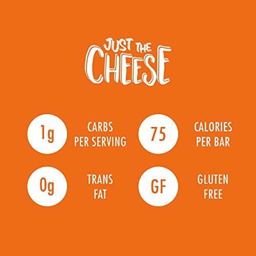 Just the Cheese Bars 10-pack, Crunchy Baked Low Carb Snack Bars. 100% Natural Cheese. High Protein and Gluten Free (Aged Cheddar) 2