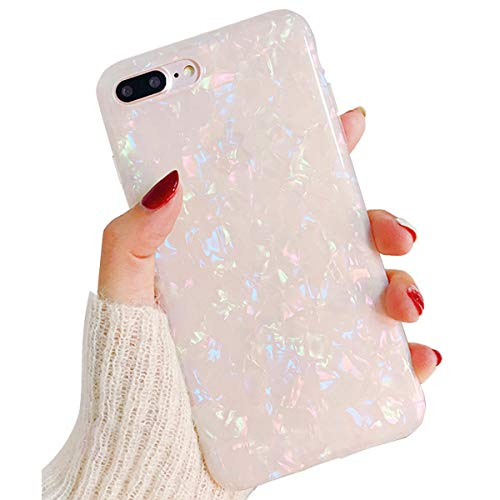 - Cute Bling iPhone 8 Plus Case Clear Silicone iPhone 7 Plus Case for Girls,iPhone 6S Plus Case Thin Protective iPhone 6 Plus Case TPU Bumper Cover Shockproof Case for Apple iPhone 8 7 6S 6 Plus-White