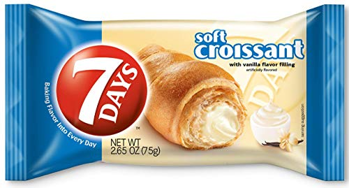 7Days Soft Croissants Dulche De Leche with Caramel Flavor Filling, 2.65oz (Pack of 12, Total of 31.8 Oz): Amazon.com: Grocery & Gourmet Food