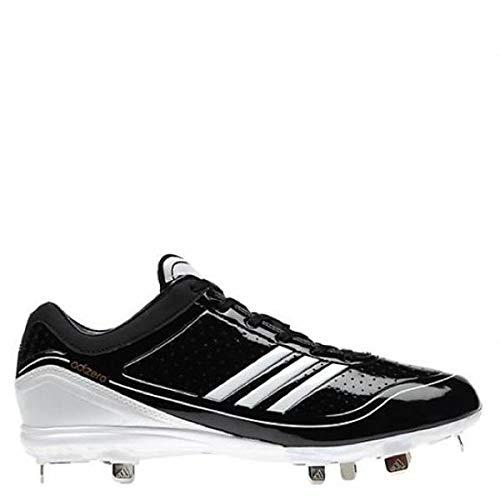 (adidas New Mens Adizero Diamond King Low Baseball Cleat 11.5 Black/White)