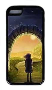 LJF phone case iphone 4/4s case, Cute Magic Gateway iphone 4/4s Cover, iphone 4/4s Cases, Soft Black iphone 4/4s Covers