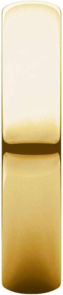 Beautiful Yellow gold 10K Half Round Light Band