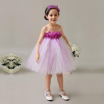 Bab&Luoli vestido de princesa, la flor, la gasa, el vestido de novia,