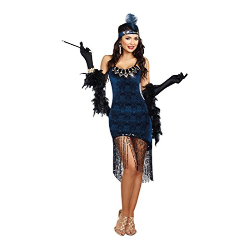 Dreamgirl Women's Downton Doll, Blue, Small]()