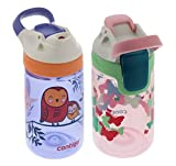 Contigo 14oz Kids Autoseal Gizmo Sip Water Bottles, Ballet & Love (2 Pack) - Perfect for Children & Parents on the Go