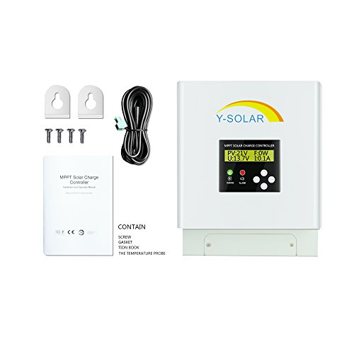 Y-SOLAR 60amp MPPT Solar Charge Controller 48V 36V 24V 12V Auto Max 150VDC Input with Backlight LCD Display for Sealed Gel AGM Flooded Lithium Battery by Y-SOLAR