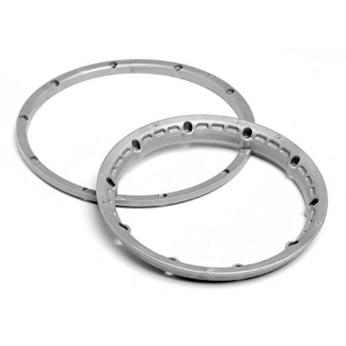 HPI Racing 3272 Heavy Duty Wheel Bead Lock Rings, Silver (2 Wheels)