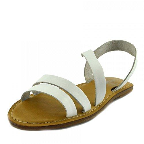 Di Donna Scarpe Estate Naturale Kick Sandali Cuoio Bianco F0936 Footwear Moda Casual p0xqxw4RgU