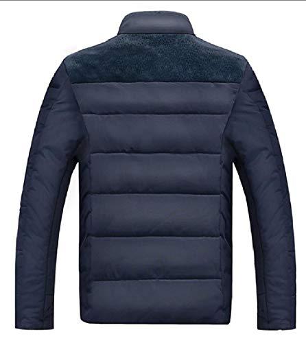 Collar Warm Lined Fashion Down Blue Jackets Fleece Gocgt Men's Coats E4qvRWF4wf