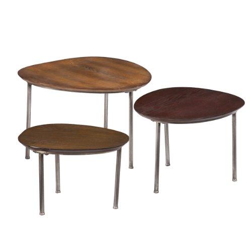 Southern Enterprises 3-Piece Jetson Nesting Accent Table Set