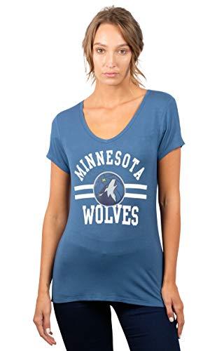 - NBA Minnesota Timberwolves Women's T-Shirt Relaxed Short Sleeve Tee Shirt, Medium, Gray Blue