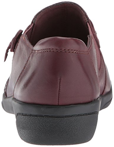 CLARKS Damen Cheyn Madi Slip-On Loafer Burgund Leder