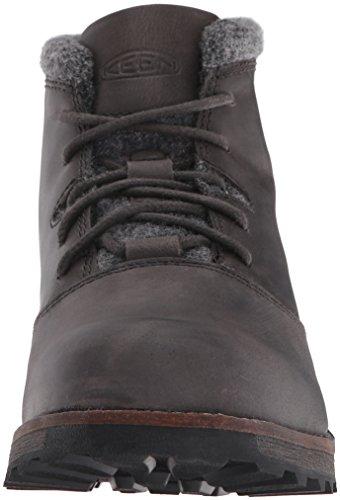 Keen - Zapatos de cordones de Piel para hombre negro BOCK BOCK