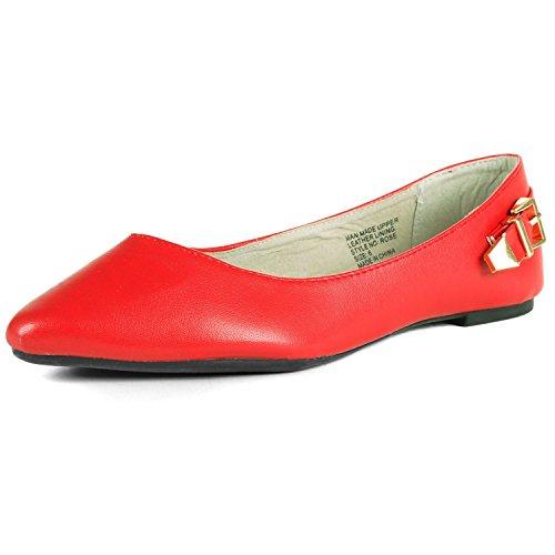 Swiss Ballerine Femme Suisse Swiss Bout Pointu Rouge - menetrey.fr 4c1932268343