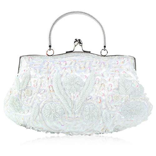 doré Blanc les avec strass diamant en Sacs perles Magai de couleur fêtes en soirée résistant pour wZqPXx6a