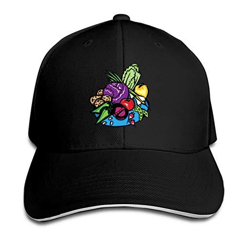 SEVTNY Fruit Basket Snapback Cap Flat Bill Hats Adjustable Blank Caps for Men Women
