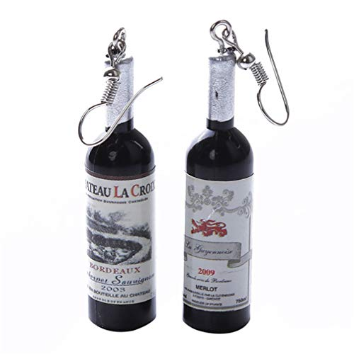 SONGLIN Women Creative Wine Bottle Dangle Hook Earrings for Birthday -