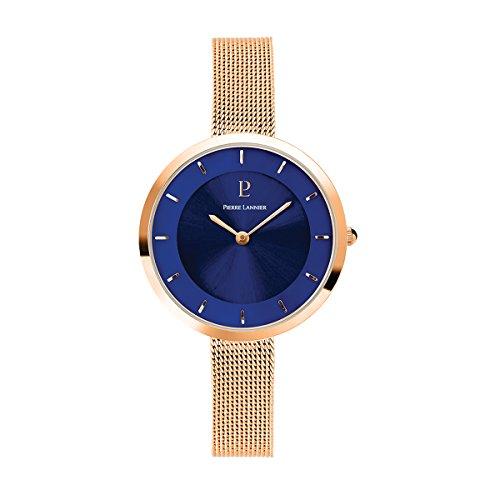 Pierre Lannier Swarovski Crystal Rose Gold Milanese Steel Ladies Watch