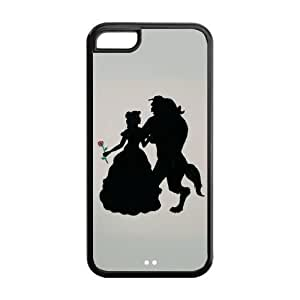 Hard Rubber Special Design iPhone 5c Cover Beauty and Beast Case for iPhone 5c