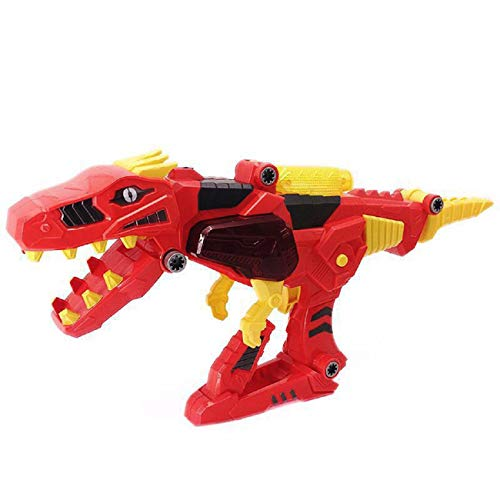 Children Toys Dartphew [ Transforming Dinosaur Toy Lights Sound 3 in 1 T-Rex Super Charge Morpher Toy ] - Helps to Improve Hand-Eye Coordination - Great Gifts ( Plastic -