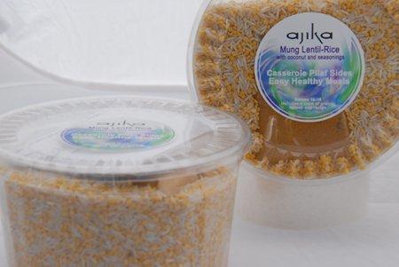Ajika Moong Kitchari Lentil-Rice Meal Kit and Seasonings, 2.2-Pound by Ajika
