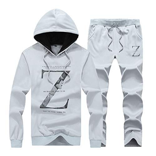 Men Two Pieces Tracksuit Top and Pants Hoodies Sweatshirt Clothes Set Hip Hop Style Sets