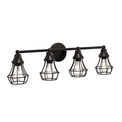 41Q9%2B WTivL - Kichler Lighting 4-Light Bayley Olde Bronze Standard Bathroom Vanity Light