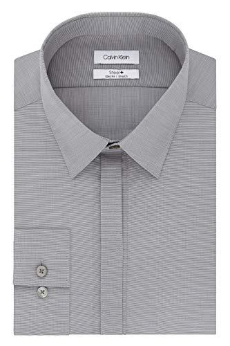 5b0f9219 Calvin Klein Men's Dress Shirt Slim Fit Non Iron Stretch Solid ...