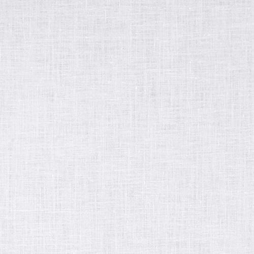 White Linen Fabric - Quality Linen BV-965 Medium Weight Linen White Fabric by The Yard,